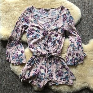 American Eagle Outfitters Floral Romper Jumpsuit